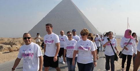 ماريوت القاهرة يشارك فى السباق المصرى العالمى الأول من أجل الشفاء