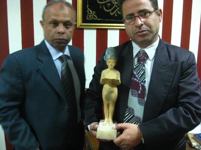 عودة تمثال الملك اخناتون إلي المتحف المصري