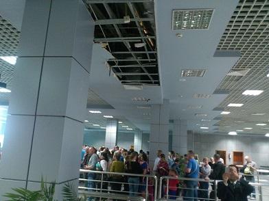 رئيس المصرية للمطارات :لم ينهار سقف مبنى صالة الوصول بمطار الغردقة الدولى