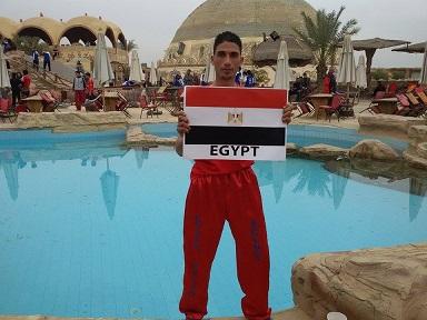 بطل -المصرية للمطارات- أول العالم فى الكيك بوكسينج بشرم الشيخ