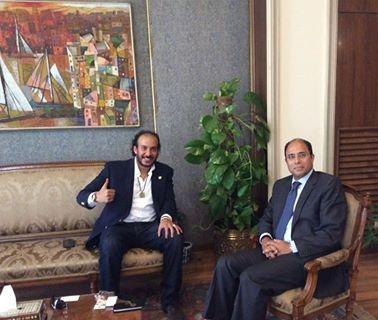الخارجية تستقبل الرحالة المصري أحمد حجاجوفيتش