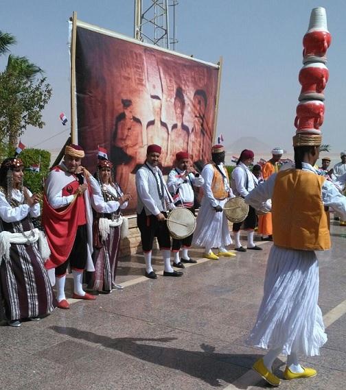 مطار أبوسمبل يحتفل باليوبيل الذهبى لنقل معبدى أبوسمبل