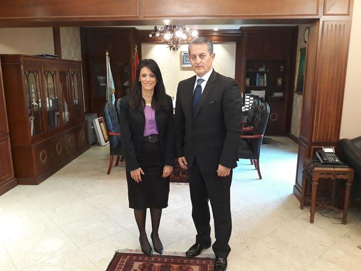 المشاط تبحث سبل زيادة الحركة السياحية الوافدة من صريبا إلى مصر