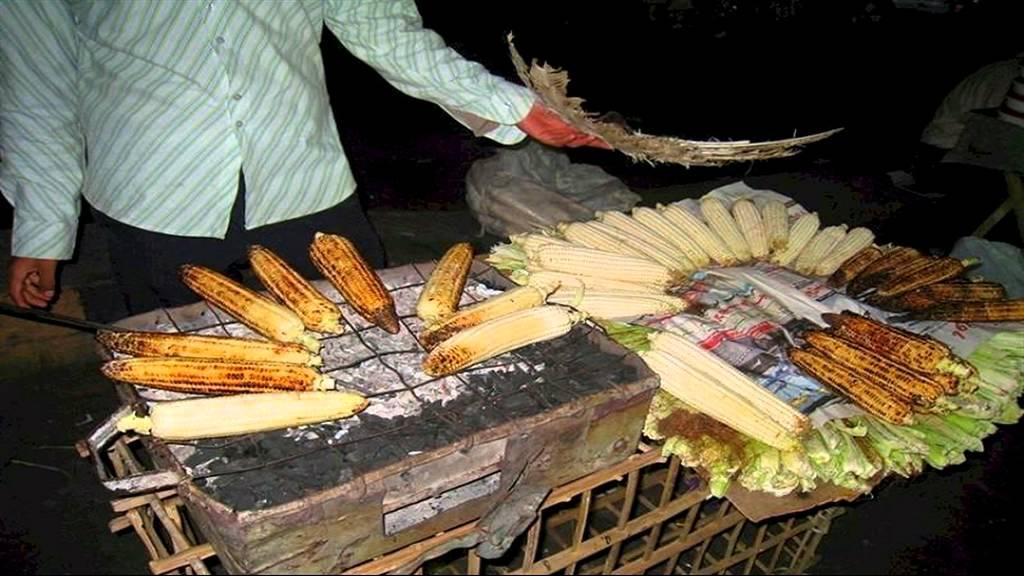 بائع الذرة المشوى.. وفوائد التصبيرة المغلفة برائحة شهية