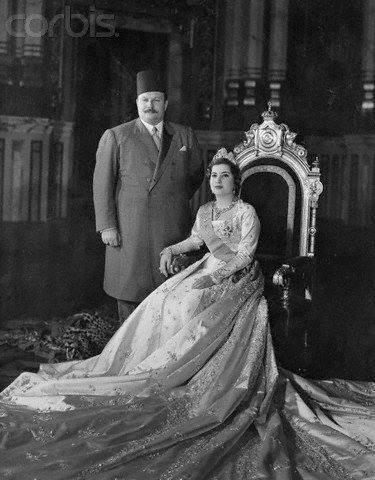 تعرف علي قصة زواج الملك فاروق والملكة ناريمان