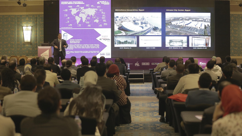 أبنية حديثة ذات واجهات ذكية في مؤتمر -عالم زاك لواجهات الأبنية - في مصر
