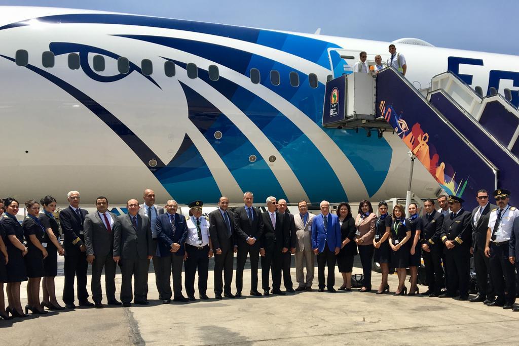 انجازاً جديدًا في تاريخ صناعة النقل الجوي المصري مصر للطيران تستقبل طائرتها الخامسة من الدريملاينر,, وتسير أطول رحلة جوية بالوقود الحيوي