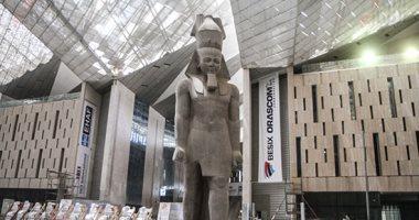 المتحف المصرى الكبير ينفذ تجربة أداء لنقل مسلة الملك رمسيس الثانى