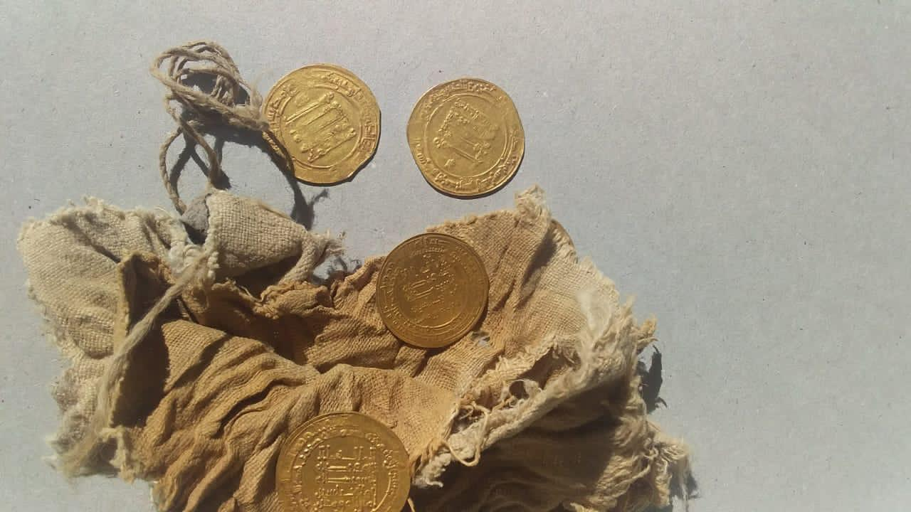 28 Gold Dinars From The Abbasid Era Unearthed