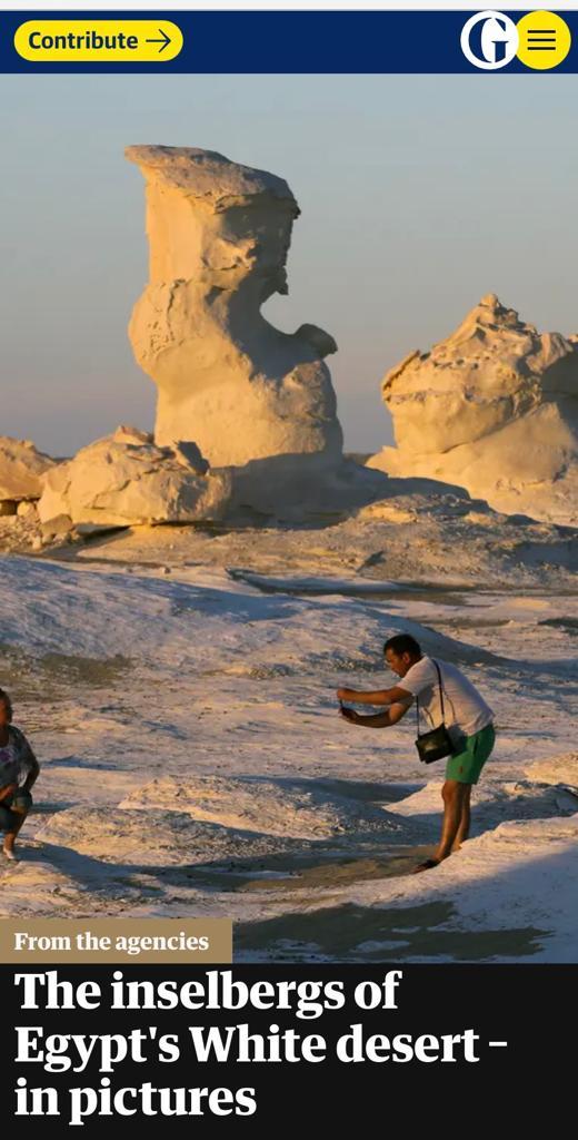 -الجارديان- تسلط الضوء على جبال الصحراء البيضاء في مصر