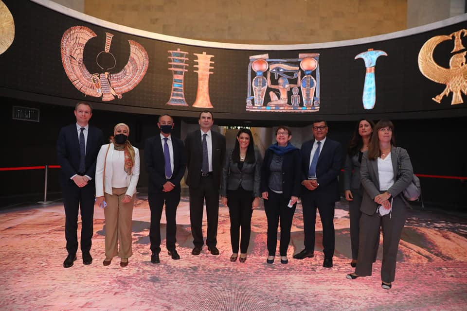 رئيسة البنك الأوروبي في زيارة لمتحف الحضارة