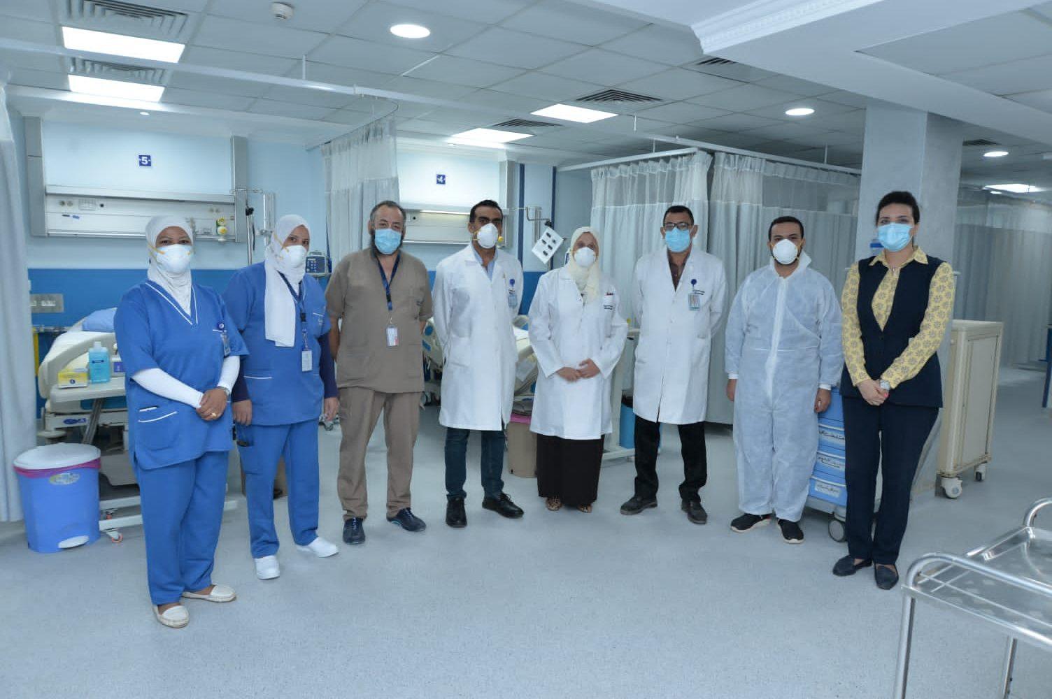 تجديد وحدة الرعاية المركزية بمستشفي مصرللطيران