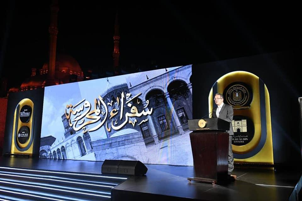 وزير السياحة والآثار يلتقي مع أكثر من ٦٠ سفيراً مصرياً وقنصلاً عاماً
